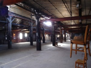 Figure 1: Early installation view of Visualizing TRANS at the Kupfer Center (Ironworks). Madison,WI, October 2006