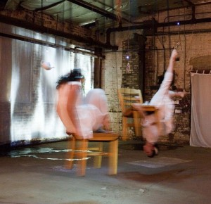 Figure 2: Performance view, Kate Hewson and Marina Kelly, Resident Alien , 2006