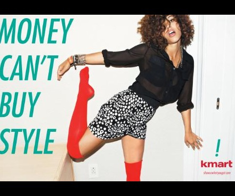 "Kmart Advertisement, ""Money Can't Buy Style,"" 2011, Photograph, Courtesy Kmart/Sears Holdings and Peterson Milla Hooks"