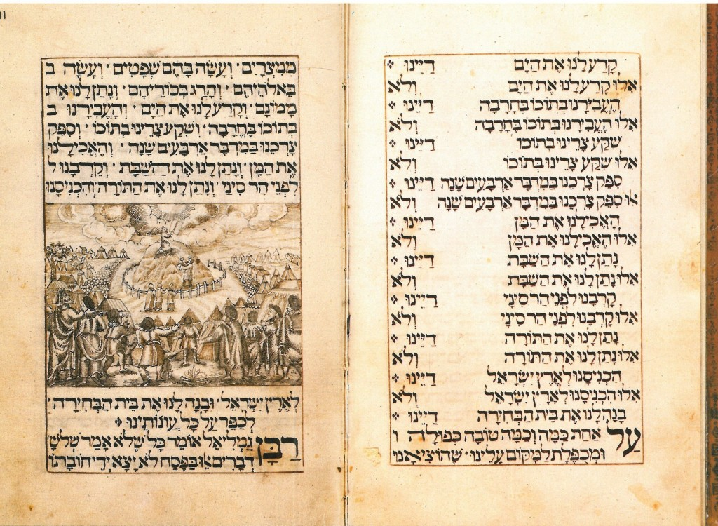 Unknown, Revelation at Mt. Sinai, 1718-19, Jewish National and University Library, Jerusalem, facsimile courtesy of Spertus Institute of Jewish Studies, Chicago