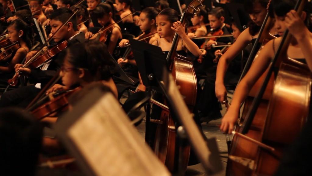 Robert Gómez Hernández, (b. 1983), La Orquesta Sinfónica Infantil de la Universidad Autónoma de Ciudad Juárez, 2012-2013, filmstill, courtesy of the artist.