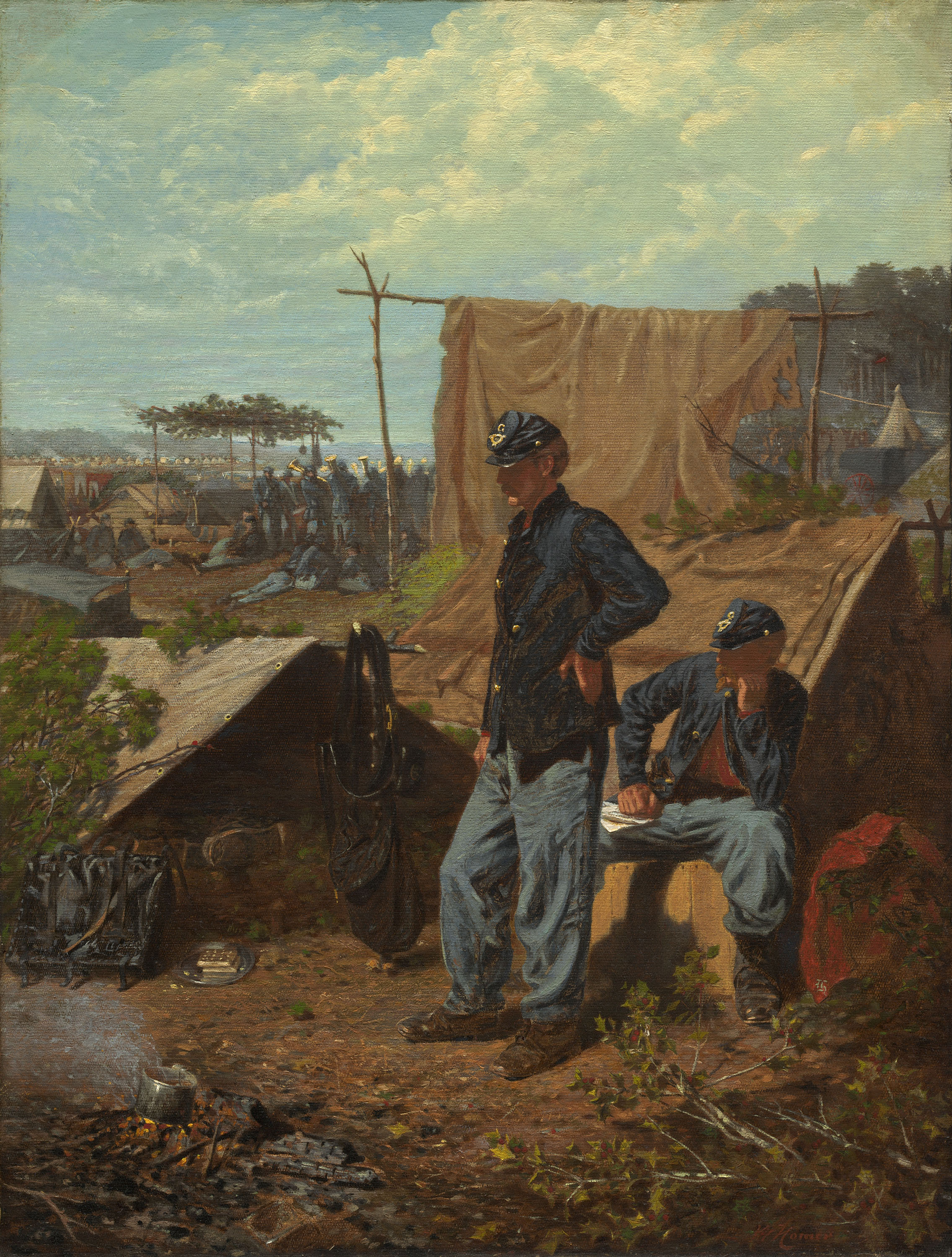 Winslow Homer (American, 1836-1010), Home, Sweet Home, c. 1863, oil on canvas, 21 ½ x 16 ½ inches. National Gallery of Art, Washington. Patrons' Permanent Fund, 1997.72.1
