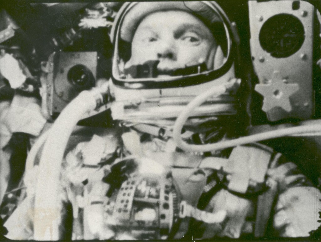 Figure 1 John Glenn during his flight on Friendship 7. Image courtesy NASA.  GRIN DataBase Number: GPN-2002-000075