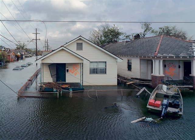 Robert Polidori, View from St. Claude Avenue Bridge, Color Photograph, 2008. Courtesy the artist.