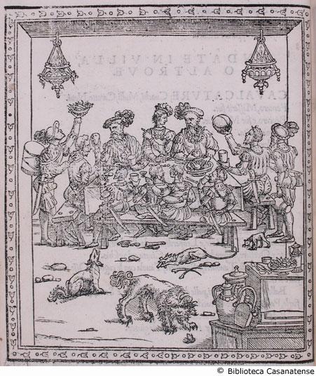 Christofor Messisbugo, Banchetti compositioni di vivande, et apparecchio generale, 1539. Giovanni del Buglhat e Antonio Hucher Compagni, Ferrara, Italy.