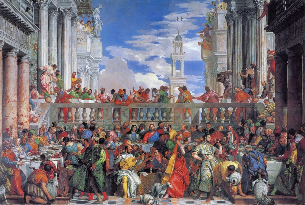 Paolo Veronese, The Wedding at Cana, 1562-63. Oil on canvas. 6.77 x 9.94 m. The Louvre Museum, Paris, France.