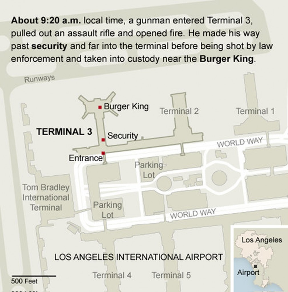 Figure 20. Infographic of LAX shooting, The New York Times online, 2013.