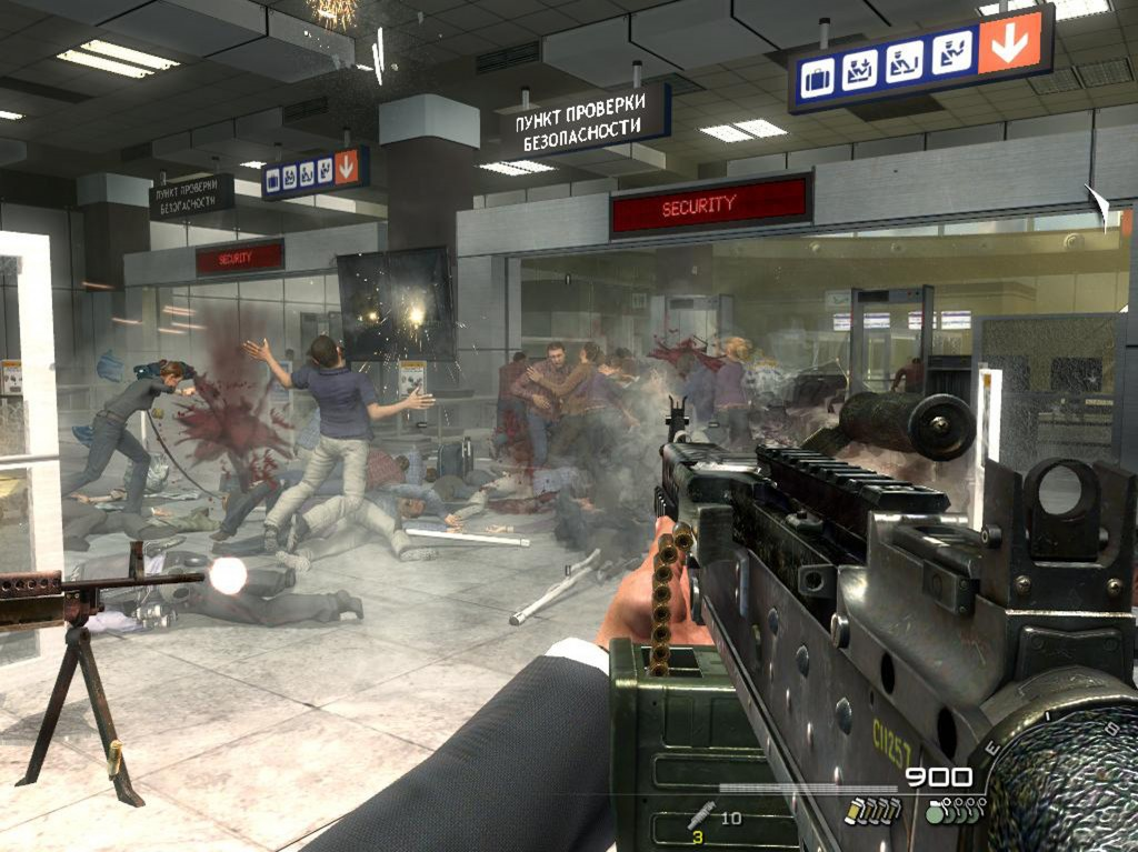 "Figure 3. ""No Russian"" level, Infinity Ward, Modern Warfare 2, 2009, PC, Xbox360, Playstation3, OSX"