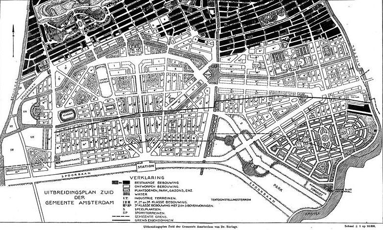 Figure 5. H.P. Berlage, Plan South, 1915.