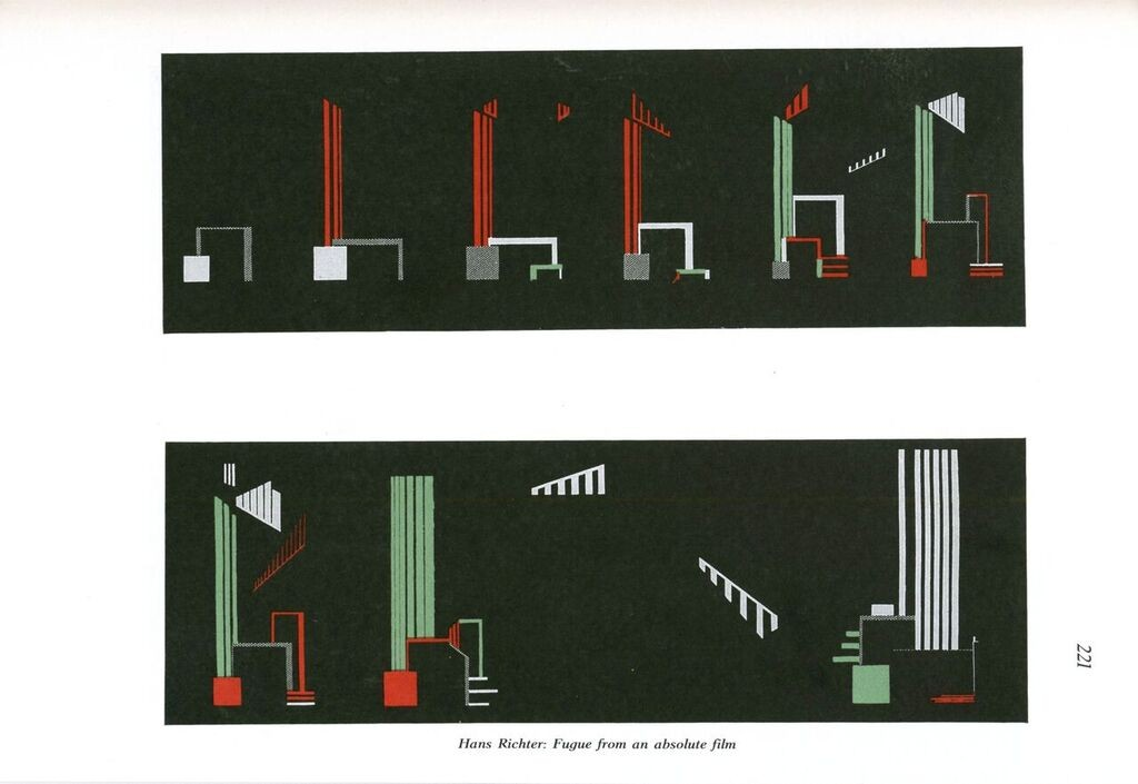 Figure 3. Hans Richter, Fugue from an absolute film, G 5/6 (April 1926) in G: An Avant-Garde Journal of Art, Architecture, Design, and Film, 1923-1926, ed.