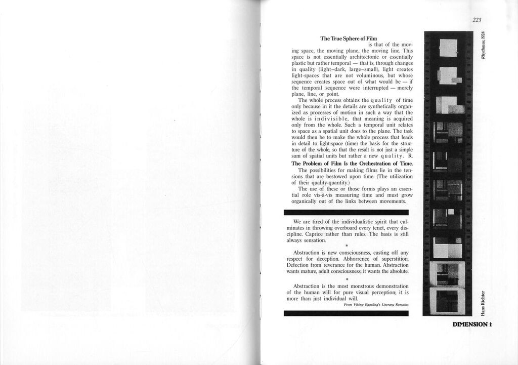 "Figure 4. Hans Richter, ""The True Sphere of Film, "" G 5/6 (April 1926) in G: An Avant-Garde Journal of Art, Architecture, Design, and Film, 1923-1926, ed."