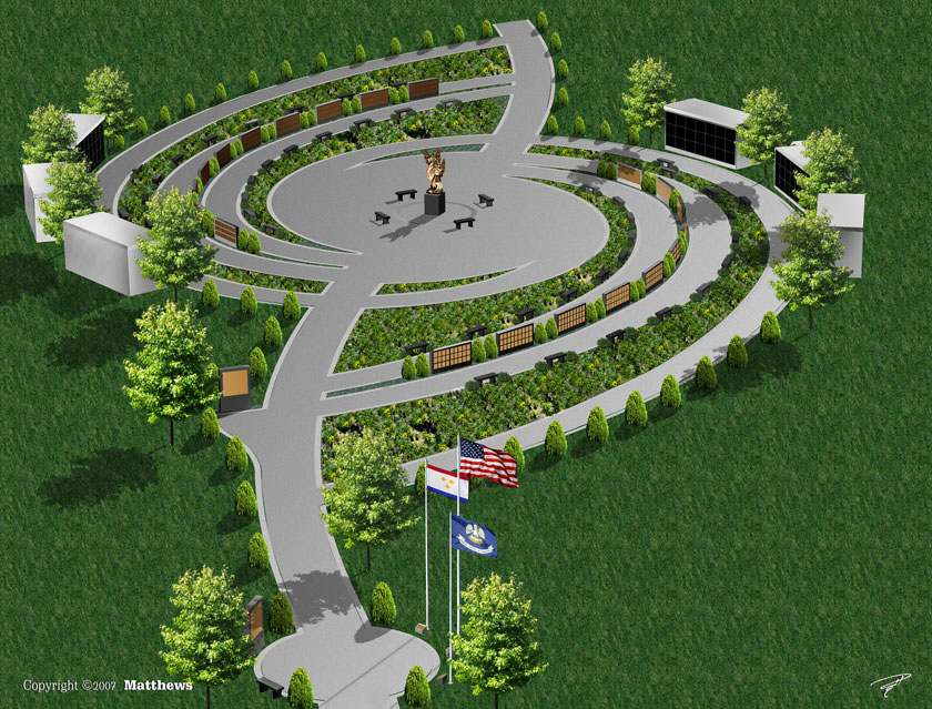 Figure 1. Artist's rendering of Katrina Memorial. © Matthews International. Reproduced with permission