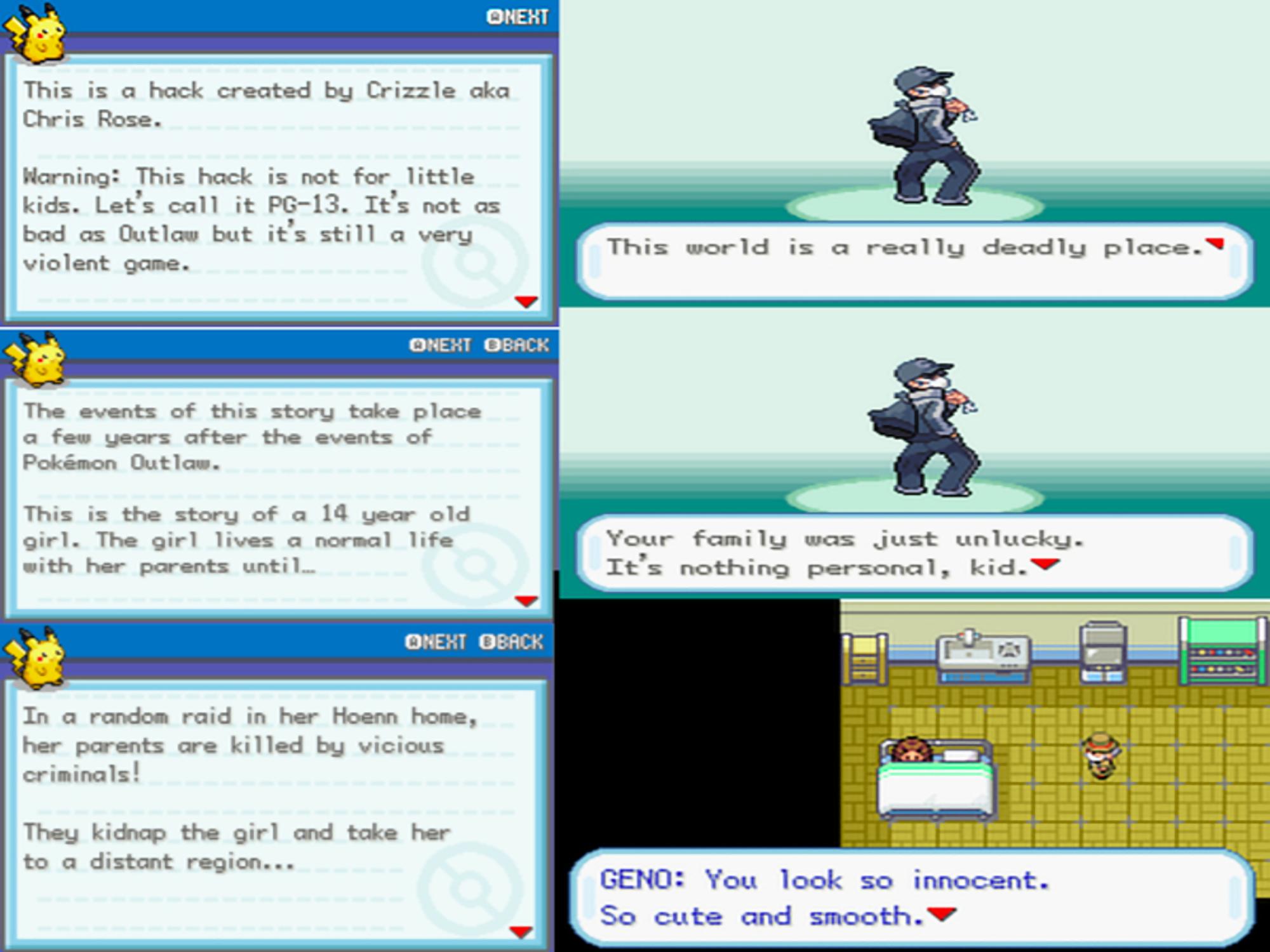 Pokémon Korosu In-Game Screenshots